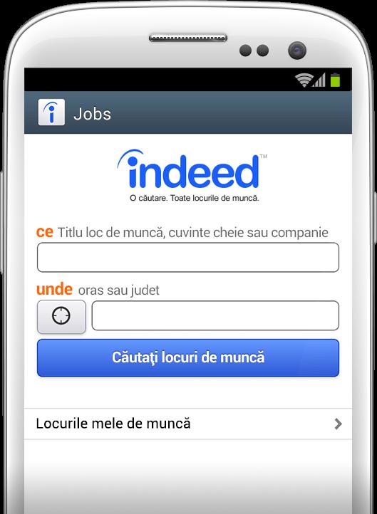 Căutare de locuri de muncă, oriunde, oricând.