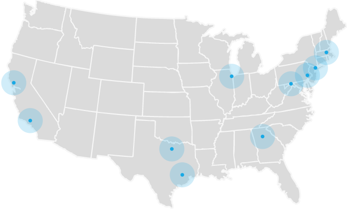 Metro areas map
